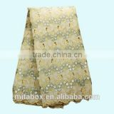 african wear swiss double organza parties lace fabrics handcut wedding lace OG0165