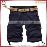 OEM canvas breathable belt mens shorts