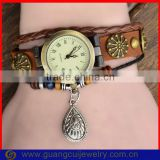 Fashion leather vintage retro watches with water drop pendant                                                                         Quality Choice