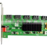 1:5 (5x1) Internal SATA II Port Multiplier (PM), Bracket Mounting, Easy Dip Switch RAID Configuration IO-JMB393-5IR Smart Raid