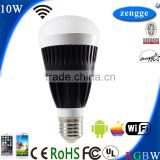 10w RGBW WiFi Led E27 E26 B22 New Bulb Smart Home Control System iPhone Android Smart App Led Bluetooth Speakers