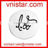 Vnistar I Do engraved 22mm stainless steel message charm plate for floating glass memory locket pendant