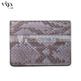leather document folder case eye-catching men wallet python leather card holder gray snake exotic leather