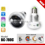 HD720P WiFi Bulb IP Network DVR Camera + Wireless Alarm Sensors(optional) all types hidden camera