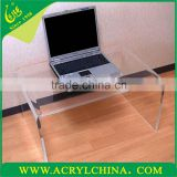 15mm clear acrylic desk for home and office, transparent PMMA tea table with 750*500*450mm