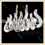 2016 Zhongshan manufacturer Nice luxury modern crystal pendant lamp led chandelier clamp arm chandelier, hanging lamp for hotel