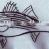 2016 beauty fishes embroidery patches product logos for wholesale.