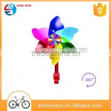 OEM colorful kid bicycle windmill with high strength nylon rod, Children's bicycles / scooters accessories