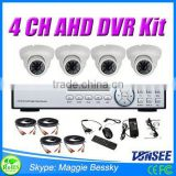 4 channel cctv system surveillance camera AHD dvr kit ahd video balun hdd for ps2