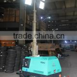 Automatic 4*1000W Metal halide lamp 6kw Kipor diesel engine light tower                                                                         Quality Choice