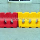 PE Colorful plastic traffic barrier/road block/road water filled barrier