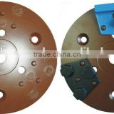 Magnetic cup wheel plate for grinding shoe