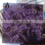 Natural amethyst polish marble slabs,transparent board