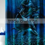 Hot Transfer digital CMYK printing sea world polyester shower curtain