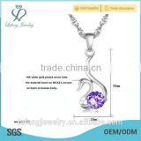 Beautiful jewelry silver color necklace for women swan shape pendant necklaces for women