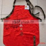 children kitchen apron&painting apron with customized logo cotton fabric made for promotion sales and kitchen,plane design