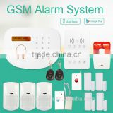 New self defense GSM Alarm System , best gsm home alarm system with Relay output of wireless socket can be controlled by SMS/APP
