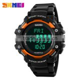 SKMEI Branded factory direct sale digital heart rate monitor sport 50M water proof 3D Pedometer watch#1180