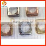 silver housing for apple watch plated frame bezel with silver buttons to be rich man