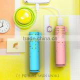 Sucker Perfume Slim Portable Power Bank 2600mah Universal Micro USB Battery Charger round shape power bank Promotional gift