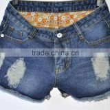 New arrival broken hole wash jeans shorts&distressed wash shorts denim style hot selling &wholesale shorts cheap&monkey wash
