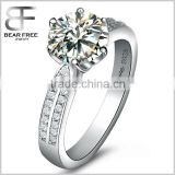2 Carat Round Brilliant Cubic Zirconia CZ Sterling Silver 925 Wedding Engagement Ring                                                                         Quality Choice