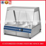 Electric hot food display cabinet food display warmer