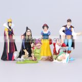 DIHAO 8pcs/Lot 9cm with opp Princess PVC Cinderella Snow White Figure toy doll for girl