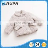 chinese factory wholesale boutique children clothes lamb wool winter coat