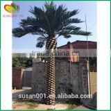 High quality fiberglass date palm tree fake outdoor decorative artificial date palm tree
