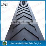 rough top chevron rubber conveyor belt for inclined conveying