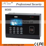 Electronic equipment time attendance M300 rfid card time reader security system TCP/IP and optional rs232&485 doorbell machine