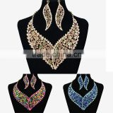 Best choice for Bridesmaids Pendant/Crystal Wedding Jewelry/Rhinestone Main Stone Fashion heavy jewelry set for party