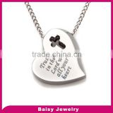 china factory custom cheap Personalized stainless steel hand stamped necklace jewelry