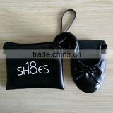 Wholesale Stock Cheap Logo Printing Foldable Ballet Flats Flexible Casual Shoes W/ Carrying Case