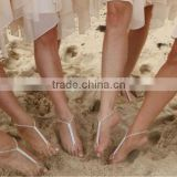 Wholesale Fancy Wedding Rhinestone Barefoot Sandals For Wedding