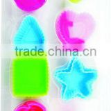 16 pcs assorted-shaped silicone chocolate moulds