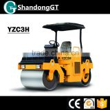 3Ton Road Roller YZC3H Vibratory Full Hydraulic Double Drum Vibratory Road Roller for sale