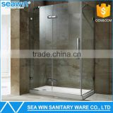 Hot Selling Bathroom Sanitary Ware Free Standing Hinge Style 10mm Tempered Glass Mini Small Corner Shower Enclosures With Tray