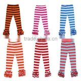 Wholesale icing capris sew sassy icing ruffle pants for girls icing leggings kids ruffle long pants