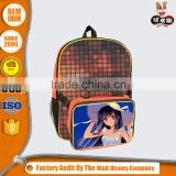 Customize your owner School Backpack and kids lunch box with amine cartoon logo printing