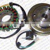 Magneto Stator 18 Pole 4 Wire With Trigger Flywheel Rotor 250CC CN250 CF250 172MM Kazuma Kinroad Dune Jonway Scooter ATV Quad Go