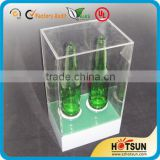 acrylic wine holder/wine bottle display/beer holders/beer promotion display/led wine display/product glorifier/glorify/light