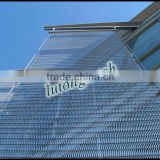 Hot sale China Lutong stainless steel flat flex wire mesh conveyor belt for buildings decoration