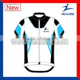 blue lycra cycling jersey with bib shorts sublimation