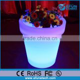 PE plastic outdoor/indoor led pot,decorating led flower/planter lighted vases