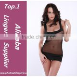 Newest babydoll fashion sexy hot black japanese girl transparent lingerie
