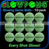 Glow In Dark Beer Pong Balls / Plastic balls Table Tennis Ball