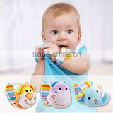 Baby Plush Bracelet Cute Animal Wrist Band Baby Toys with Bell Elephant