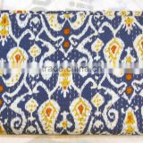 Handstitched Quilts Indian Embroidered Blankets Queen Size Kantha Quilt Wholesale Cotton Quilt